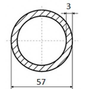 труба электросварная 57х3